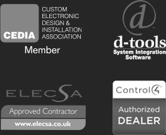 CEDIA member, Elecsa Approved Contractor, Control 4 Authorized Dealer, D-Tools